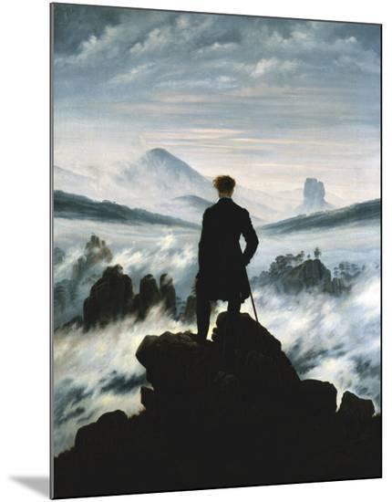 The Wanderer Above the Sea of Fog, c.1818-Caspar David Friedrich-Mounted Print