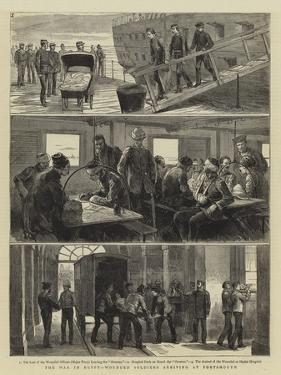 The War in Egypt, Wounded Soldiers Arriving at Portsmouth