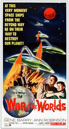 The War of the Worlds, Bottom from Left: Gene Barry, Ann Robinson on 1965 Poster Art, 1953