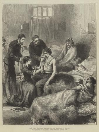 The War, Wounded Servians in the Hospital at Usicza