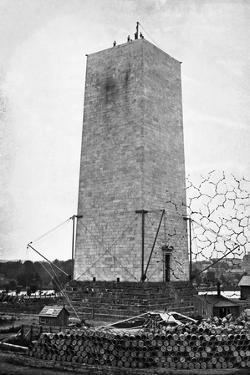 The Washington Monument under Construction