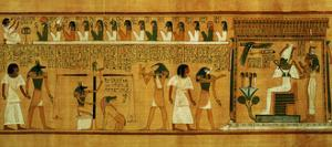 The Weighing of the Heart Against Maat's Feather of Truth, New Kingdom, circa 1275 BC (Papyrus)