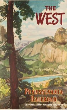 The West, Pennsylvania Railroad Go by Train Poster