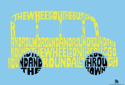 The Wheels on the Bus Text Poster