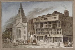 The White Hart Inn at No 119 White Hart Court, Bishopsgate, City of London, 1827