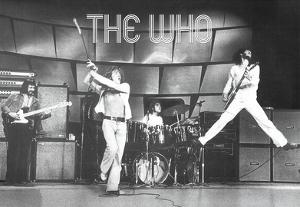 The Who Live on Stage Music Poster Print