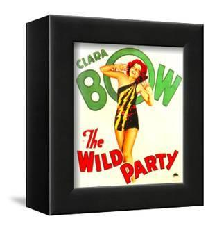 THE WILD PARTY, Clara Bow on window card, 1929.
