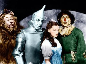 The Wizard of Oz, Bert Lahr, Jack Haley, Judy Garland, Ray Bolger, 1939