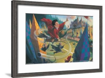 The Wizarding World: Harry Potter - Illustrated Quidditch--Framed Poster
