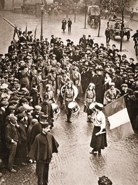 The Women's Social and Political Union Fife and Drum Band Out for the First Time, 13th May 1909