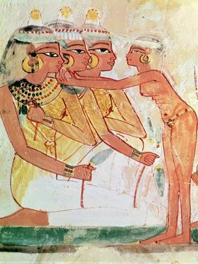 The Women's Toilet, from the Tomb of Nakht, New Kingdom, circa 1400 BC (Wall Painting)