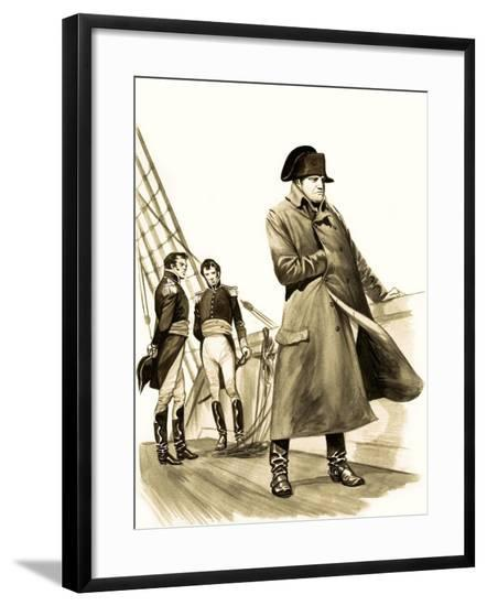 The Wonderful Story of Britain: The Battle of Waterloo-Peter Jackson-Framed Giclee Print