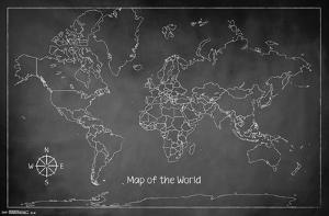 The World Chalk Map