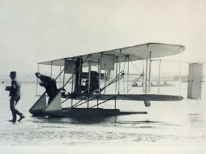 The Wright Brothers' B1 Aircraft Fitted with Pontoons for Sea Service with Us Navy, 1912