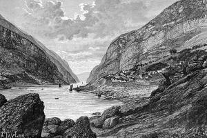 The Yang-Tze-Kiang-Mitan Gorge, C1890