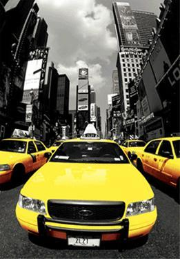 The Yellow Cabs NYC - 3D Poster