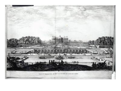Perspective View of the Garden Facade of the Chateau of Vaux-Le-Vicomte