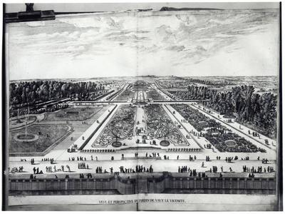 Perspective View of the Garden of Vaux-Le-Vicomte
