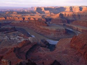 USA, Utah, Dead Horse Point State Park, Colorado River, Goose Neck at sunrise by Theo Allofs
