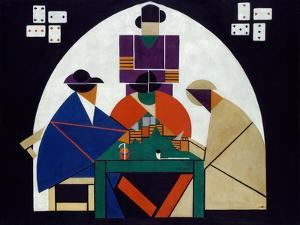 Card Players, 1916-1917 by Theo Van Doesburg