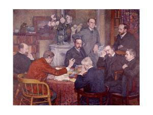 The Lecture, 1903 by Théo van Rysselberghe