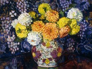 Vase of Flowers; Vase de Fleurs, 1907 by Théo van Rysselberghe