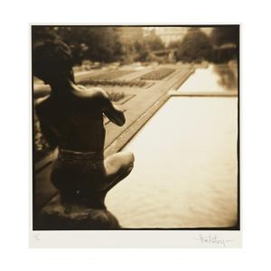 Pan and the pool, Lake Como, Italy by Theo Westenberger