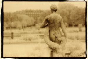 Statue and serpent, Luxembourg Gardens, Paris by Theo Westenberger