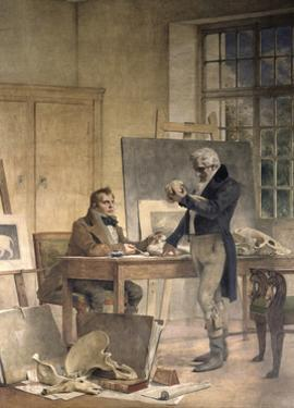 Cuvier Gathers Documents for His Work on the Fossil Bones by Theobald Chartran