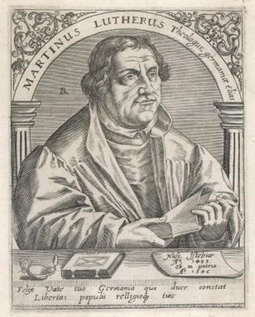 Martin Luther by Theodor de Bry