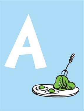 A - Do You Like Green Eggs and Ham? (on blue) by Theodor (Dr. Seuss) Geisel