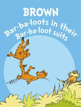 Brown Barbaloots (blue) by Theodor (Dr. Seuss) Geisel