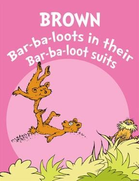 Brown Barbaloots (pink) by Theodor (Dr. Seuss) Geisel