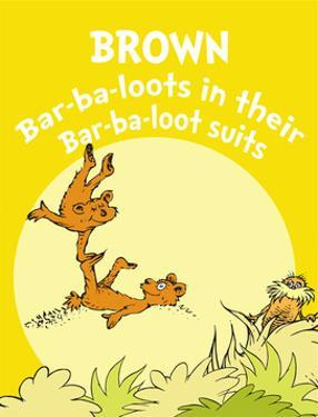Brown Barbaloots (yellow) by Theodor (Dr. Seuss) Geisel