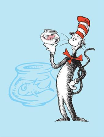 Cat in the Hat Blue Collection I - The Cat in the Hat with Fish (blue) by Theodor (Dr. Seuss) Geisel