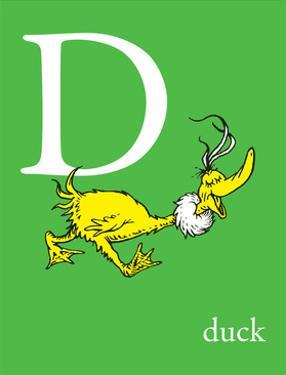 D is for Duck (green) by Theodor (Dr. Seuss) Geisel