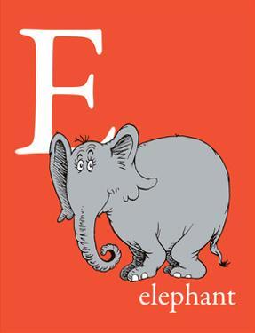 E is for Elephant (red) by Theodor (Dr. Seuss) Geisel