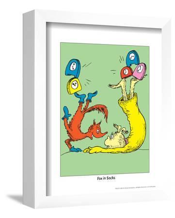 Fox in Socks (on green) by Theodor (Dr. Seuss) Geisel