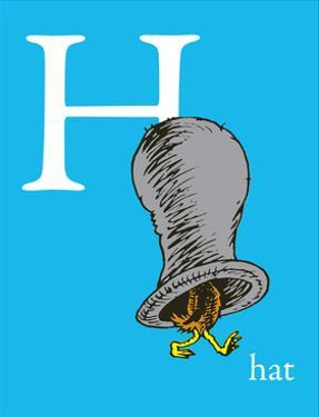 H is for Hat (blue) by Theodor (Dr. Seuss) Geisel