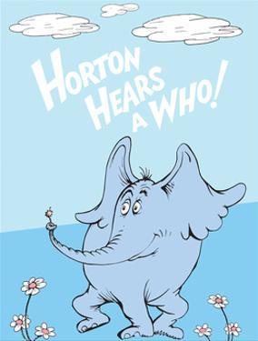 Horton Hears a Who (on blue) by Theodor (Dr. Seuss) Geisel