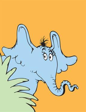 Horton Hears a Who (on orange) by Theodor (Dr. Seuss) Geisel