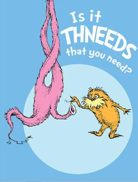Is It Thneeds? (blue) by Theodor (Dr. Seuss) Geisel