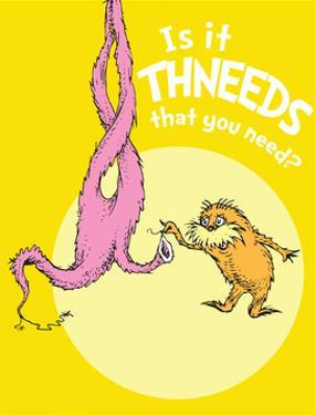 Is It Thneeds? (yellow) by Theodor (Dr. Seuss) Geisel