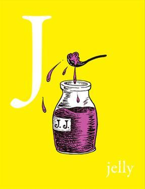 j is for jelly (yellow) by Theodor (Dr. Seuss) Geisel