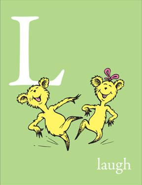 L is for Laugh (green) by Theodor (Dr. Seuss) Geisel
