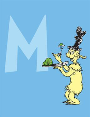 M - I Do So Like Them, Sam I Am. (on blue) by Theodor (Dr. Seuss) Geisel