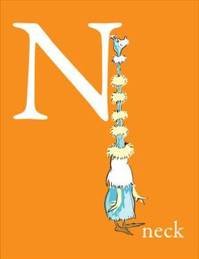 N is for Neck (orange) by Theodor (Dr. Seuss) Geisel