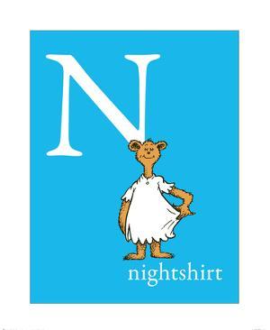 N is for Nightshirt (blue) by Theodor (Dr. Seuss) Geisel