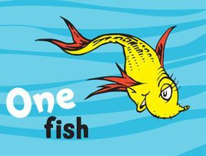 One Fish Two Fish Ocean Collection I - One Fish (ocean) by Theodor (Dr. Seuss) Geisel