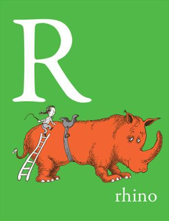 R is for Rhino (green) by Theodor (Dr. Seuss) Geisel